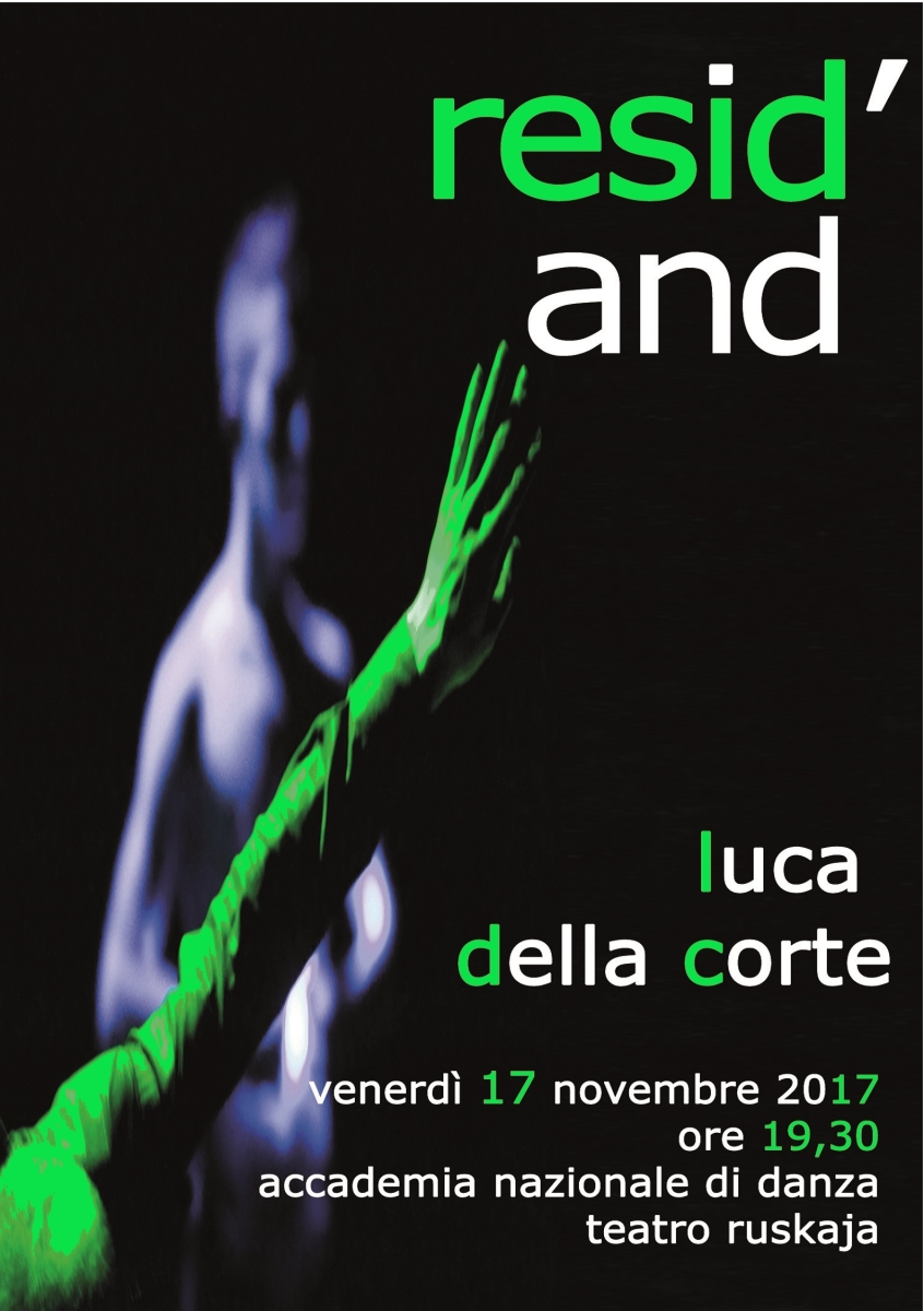Al via Resid'AND 2017/18 con Luca Della Corte